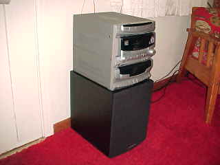 Picture showing the stereo system